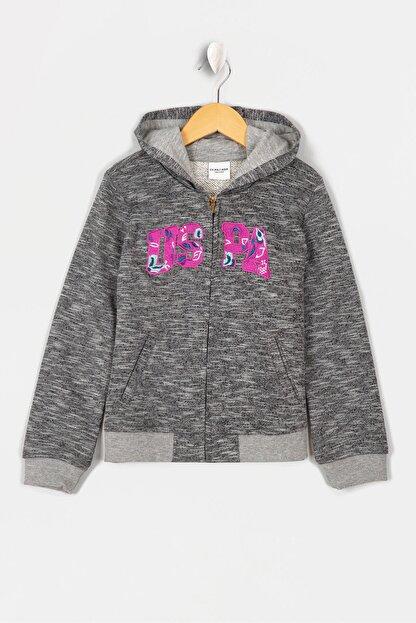 US Polo Assn Grı Kız Çocuk Sweatshirt