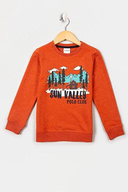 US Polo Assn Turuncu Erkek Çocuk Santander-E Sweatshirt