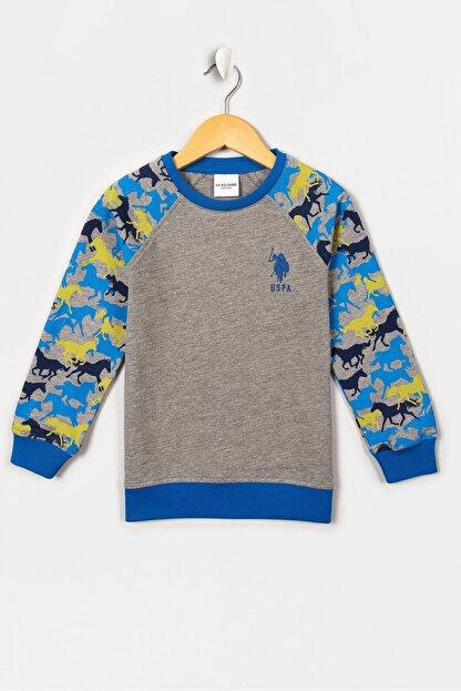 US Polo Assn Grı Melanj Erkek Cocuk Sweatshirt