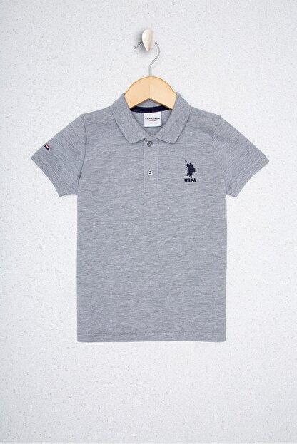 US Polo Assn Gri Erkek Çocuk T-Shirt