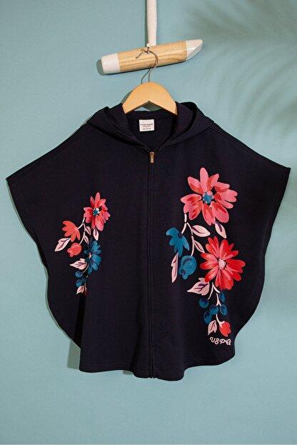 US Polo Assn Lacivert Kız Çocuk Sweatshirt