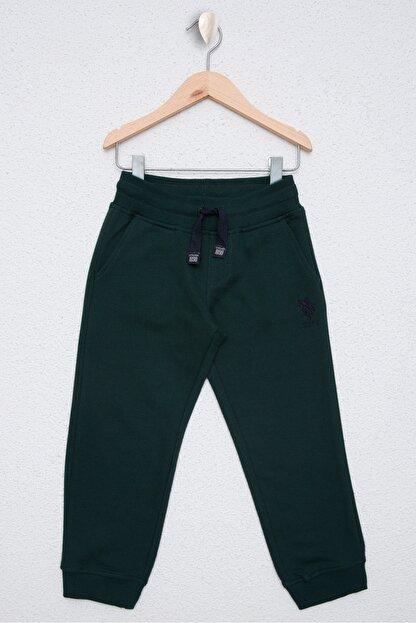 US Polo Assn Yesil Erkek Çocuk Orme Pantolon