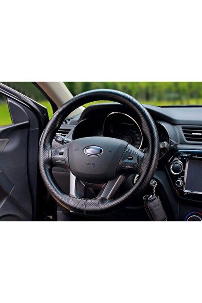 GARDENAUTO Opel Antara Deri Direksiyon Kılıfı Dikmeli Noktalı Siyah Dikişli