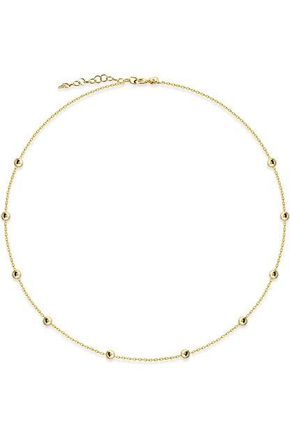 Huarz Gümüş Kadın 925 Ayar Gold Toplu Gümüş Zincir 40cm