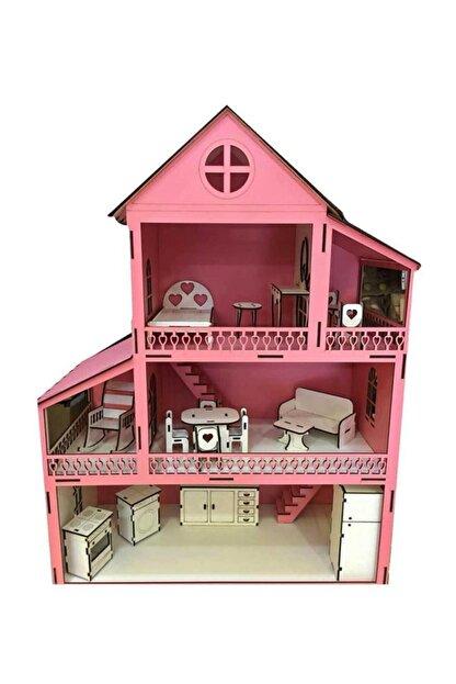 Ahşap Barbi Bebek Oyun Evi Tüm Eşyalar Dahil