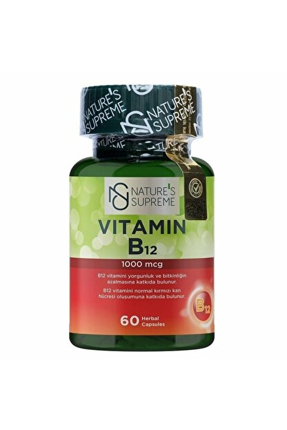 Natures Supreme Vitamin B12 1000 Mcg 60 Kapsül