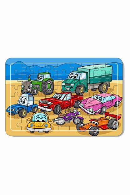 Baskı Atölyesi 54 Parça Arabalar Ahşap Puzzle