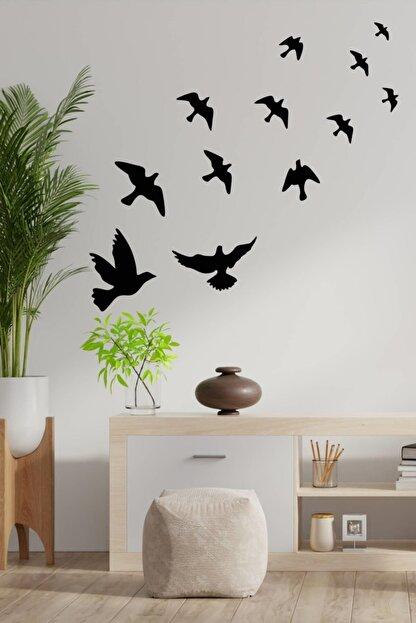 MSticker Uçan Kuşlar Dekoratif Duvar Sticker Kuş Sürüsü (58x61cm)