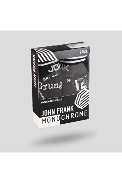 John Frank Erkek Siyah İkili Monochrome Boxer - JF2BMC05-L
