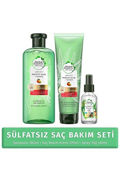 Herbal Essences Sülfatsız Saç Bkm Set(Şmp+Krem+Saç Bkm Yağ)