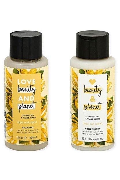 Love Beauty and Planet Hindistan Cevizi Yağı Ve Ylang Ylang Özlü Şampuan + Saç Kremi Seti