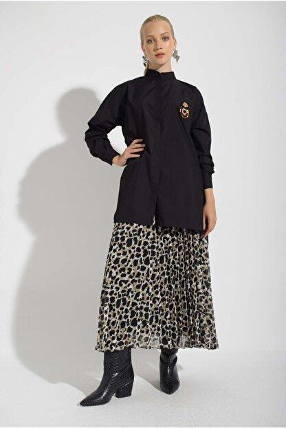 Missemramis Kadın Yanları Yırtmaçlı ve Broşlu Gömlek 202834