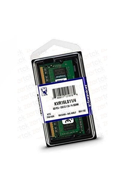 Kingston Kvr16ls11/4 4 Gb Ddr3 Sodımm 1600 Mhz Notebook Bellek 1.35v - Low Voltage