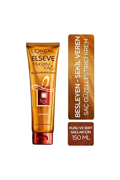Elseve L'oréal Paris Mucizevi Yağ Saç Güzelleştirici Krem 150 Ml - Kuru Ve Sert Saçlar