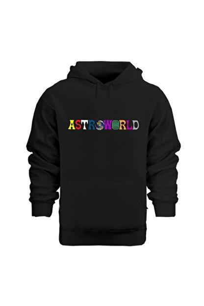 Rafftan Travis Scott Astroworld Baskılı Beyaz Sweatshırt