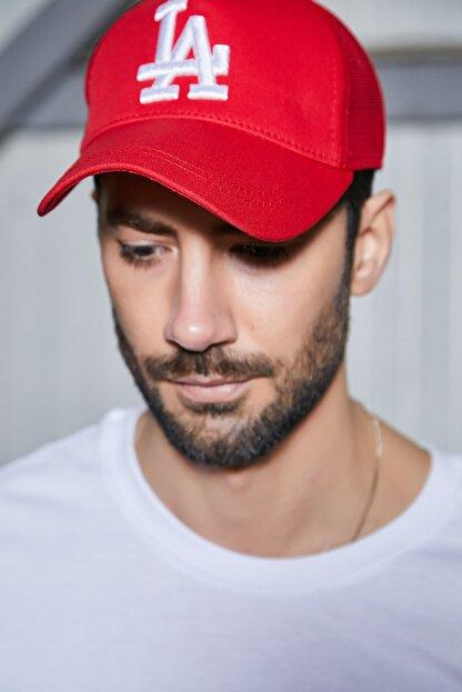 Sateen Men Erkek Kırmızı Nakışlı Şapka