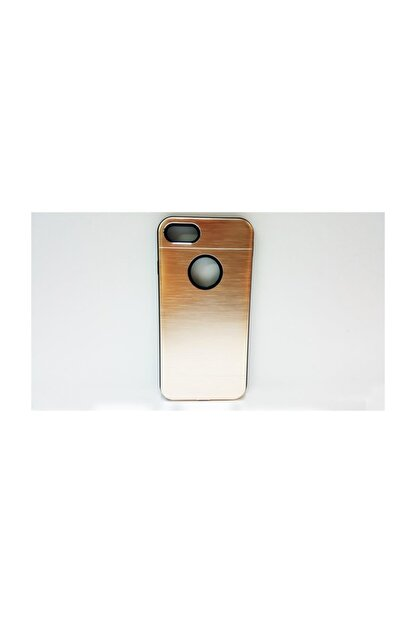 MOBİLLİFE Iphone 7 Gold Metal Sert Rubber Kılıf