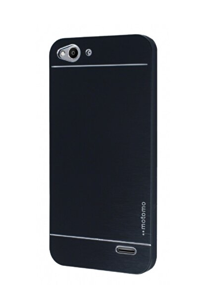 Motomo Vodafone Smart 6 Metal Siyah Rubber Kılıf