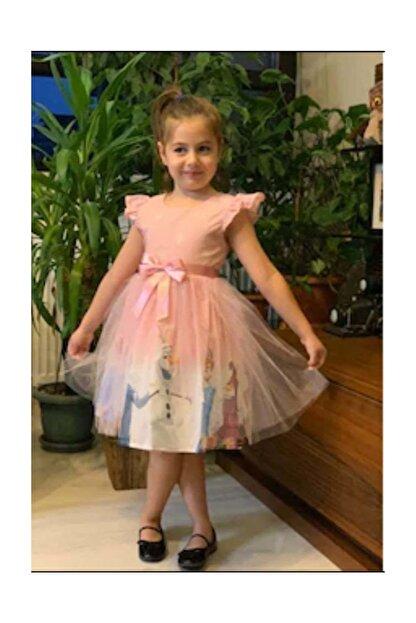 Hscbutik Frozen Elsa Kiz Cocuk Tullu Karlar Ulkesi Pembe Elbise Trendyol