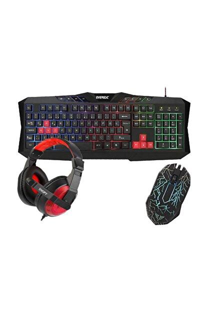 Rampage Everest Gx-8863 Gaming 3'lü Klavye Mouse Kulaklık Set