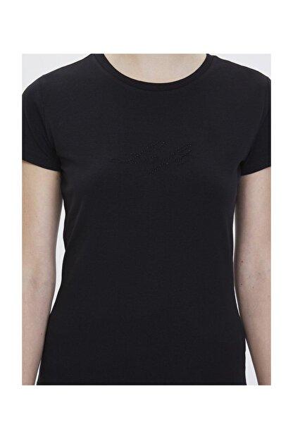 Loft Kadın Yazılı Baskılı Slim Fit Tişört