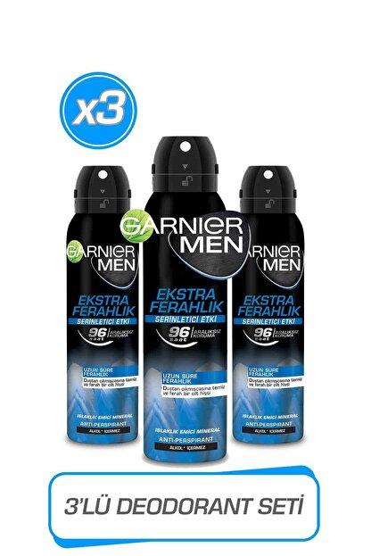 Garnier 3'lü Men Ekstra Ferahlık AerosolSeti 36005423422543