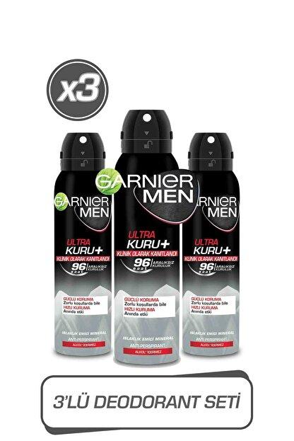 Garnier 3'lü Men Ultra Kuru Aerosol Seti 36005423421313