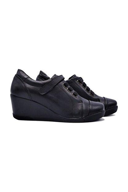 Zaim Kundura Hakiki Deri Siyah Kadın Ayakkabı