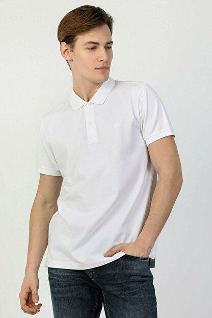 Colin's Regular Fit Polo Yaka Beyaz Erkek Kısa Kol Tişört CLTKTTSHM0766200