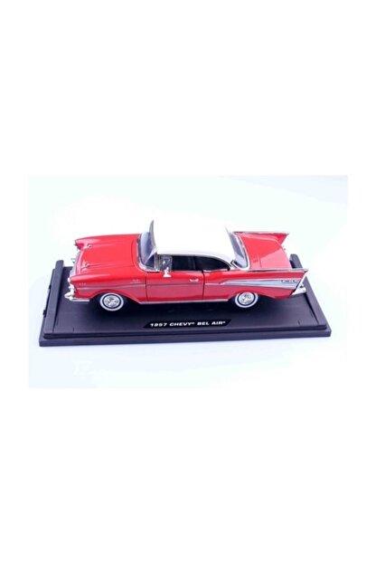 Motomax 1957 Chevy Bel Air 1/18 Die Cast Model Araç