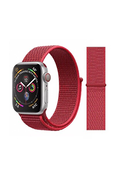 Miyosa Apple Watch 42 Mm Spor Loop Naylon Kayış Red