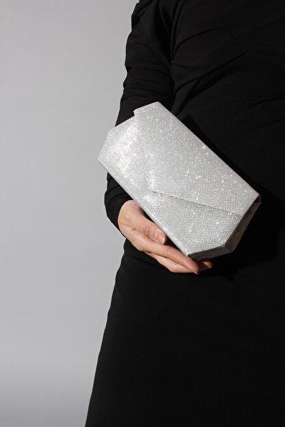 Rovigo Kadın  Deri Gümüş Çanta
