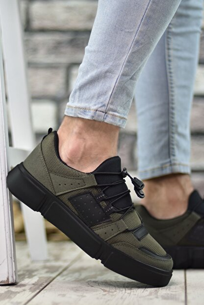 Riccon Haki Siyah Erkek Sneaker 00122023