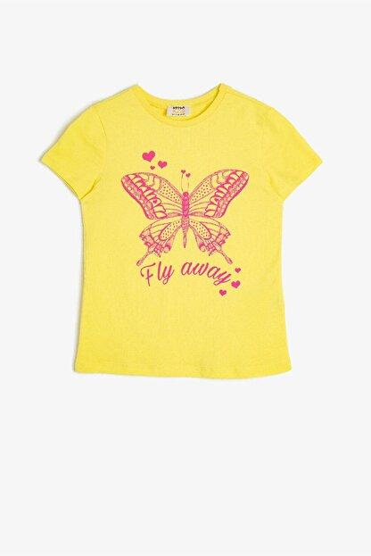 Koton Sarı Kız Çocuk T-Shirt