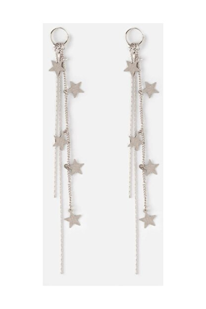 New Obsessions Gümüş Sallanan Yıldızlar Küpe
