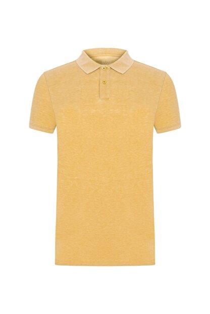 Mudo Erkek Koyu Sarı Polo Yaka Pamuklu T-Shırt 371578