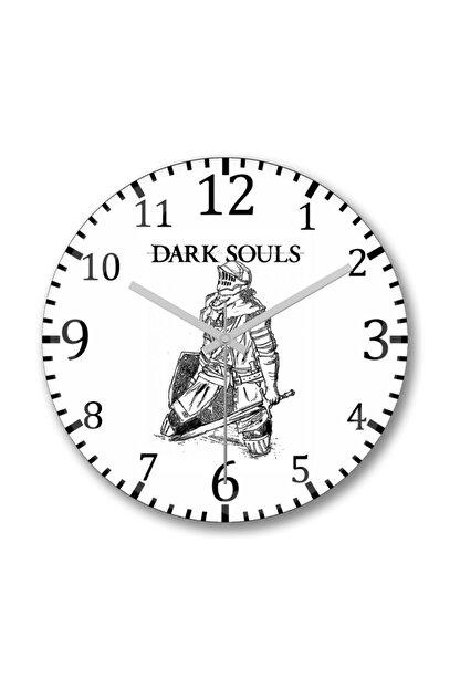Baskı Dükkanı Dark Soul 2 Duvar Saati Bombeli Gercek Cam