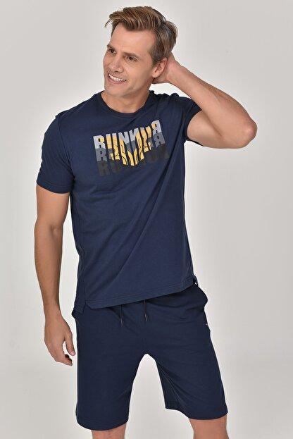 bilcee Lacivert Erkek T-shirt  GS-8811