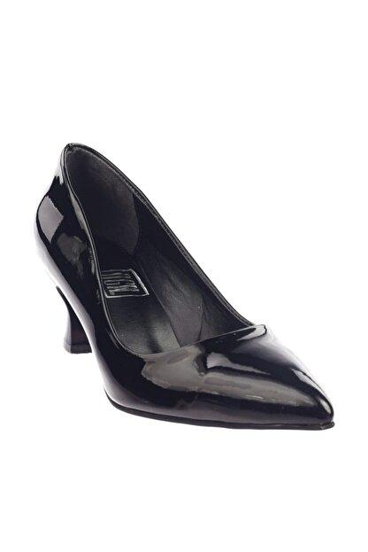 Dgn Siyah Rugan Kadın Topuklu Ayakkabı 230-186