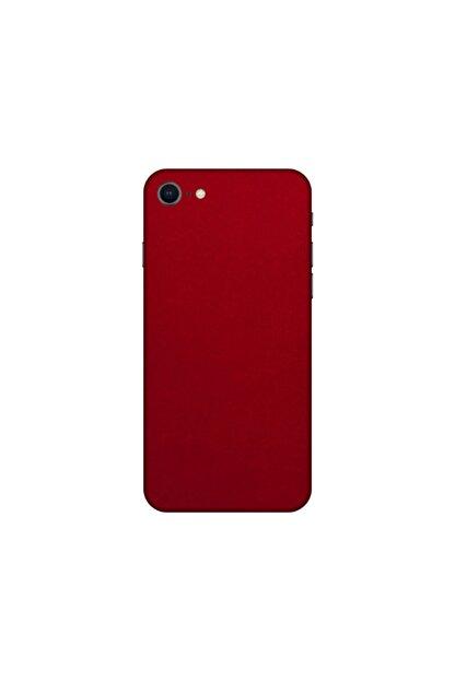 KAPAK OLSUN Iphone 8 Kırmızı Kadife Telefon Kaplaması
