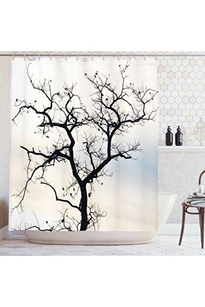 Orange Venue Ağaçlar Duş Perdesi Yapraksız Ağaç