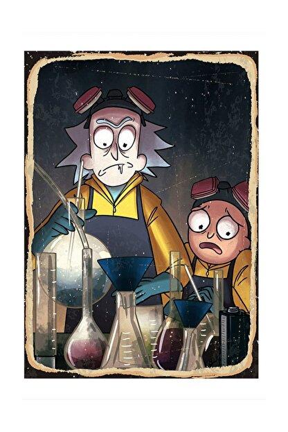 Tablomega Rick And Morty Deney Desenli Mdf Tablo
