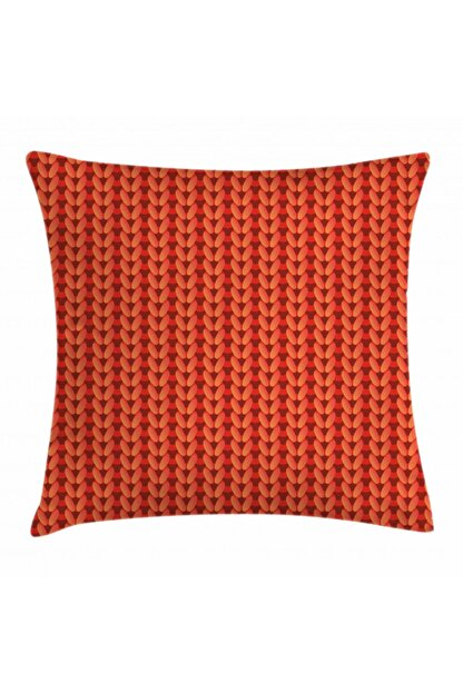 Orange Venue Zik Zak Minder Kılıfı Kırmızı Turuncu Örgü