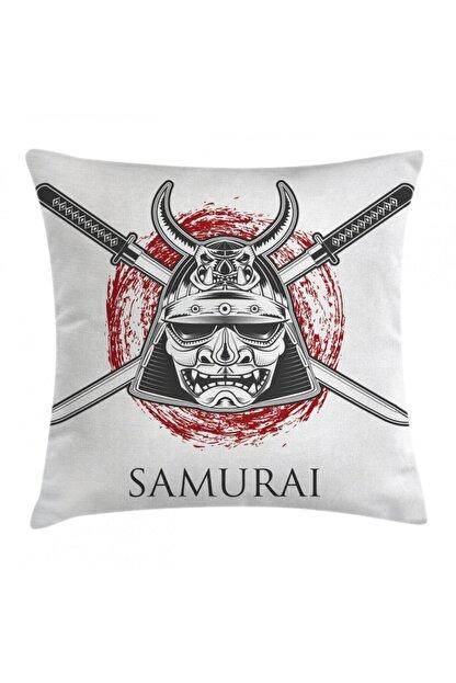Orange Venue Savaşçı Minder Kılıfı Geleneksel Samuray Kılıcı Desenli