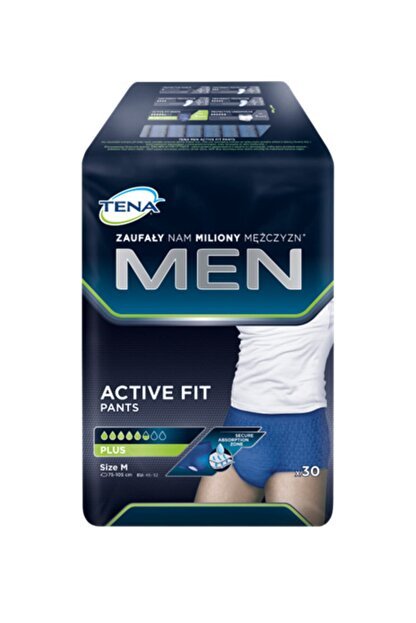 TENA Men Active Plus Emici Külot 5.5 Damla Medium 30'lu