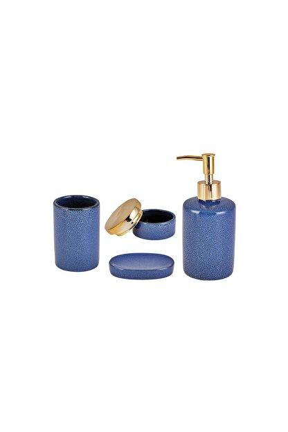 Karaca Mavi 4'lü Banyo Seti