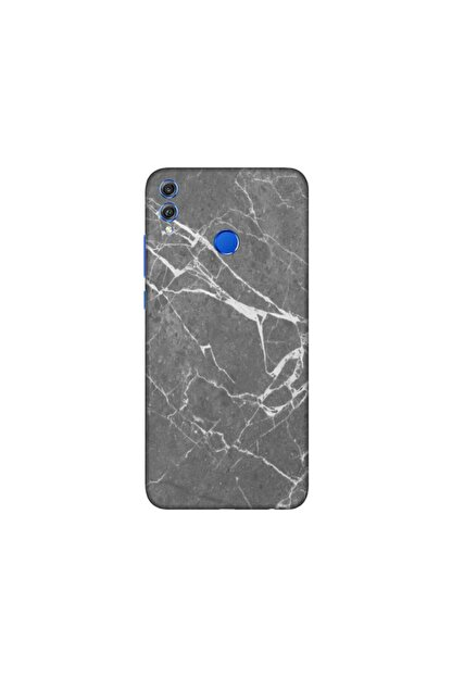 KAPAK OLSUN Huawei Honor 8x Füme Mermer Telefon Kaplaması