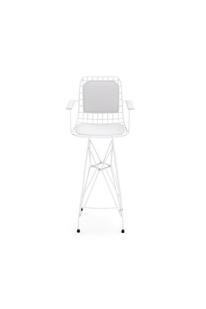 Kenzlife Knsz Kafes Tel Bar Sandalyesi 1 Li Zengin Byzbyz Kolçaklı Sırt Minderli Ofis Cafe Bahçe Mutfak