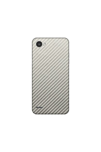 KAPAK OLSUN Lg Q6 Silver Karbon Telefon Kaplaması