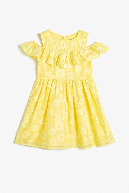 Koton Sarı Kız Çocuk Elbise